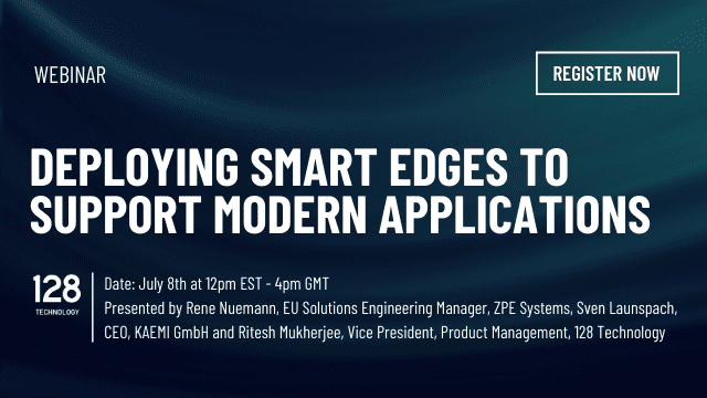Webinar - Depoloying Smart Edges to Support Modern Applications