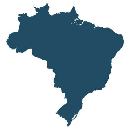 Brazil country map