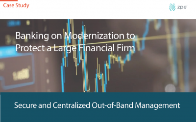 Banking on Network Modernization to Protect a Large Financial Firm