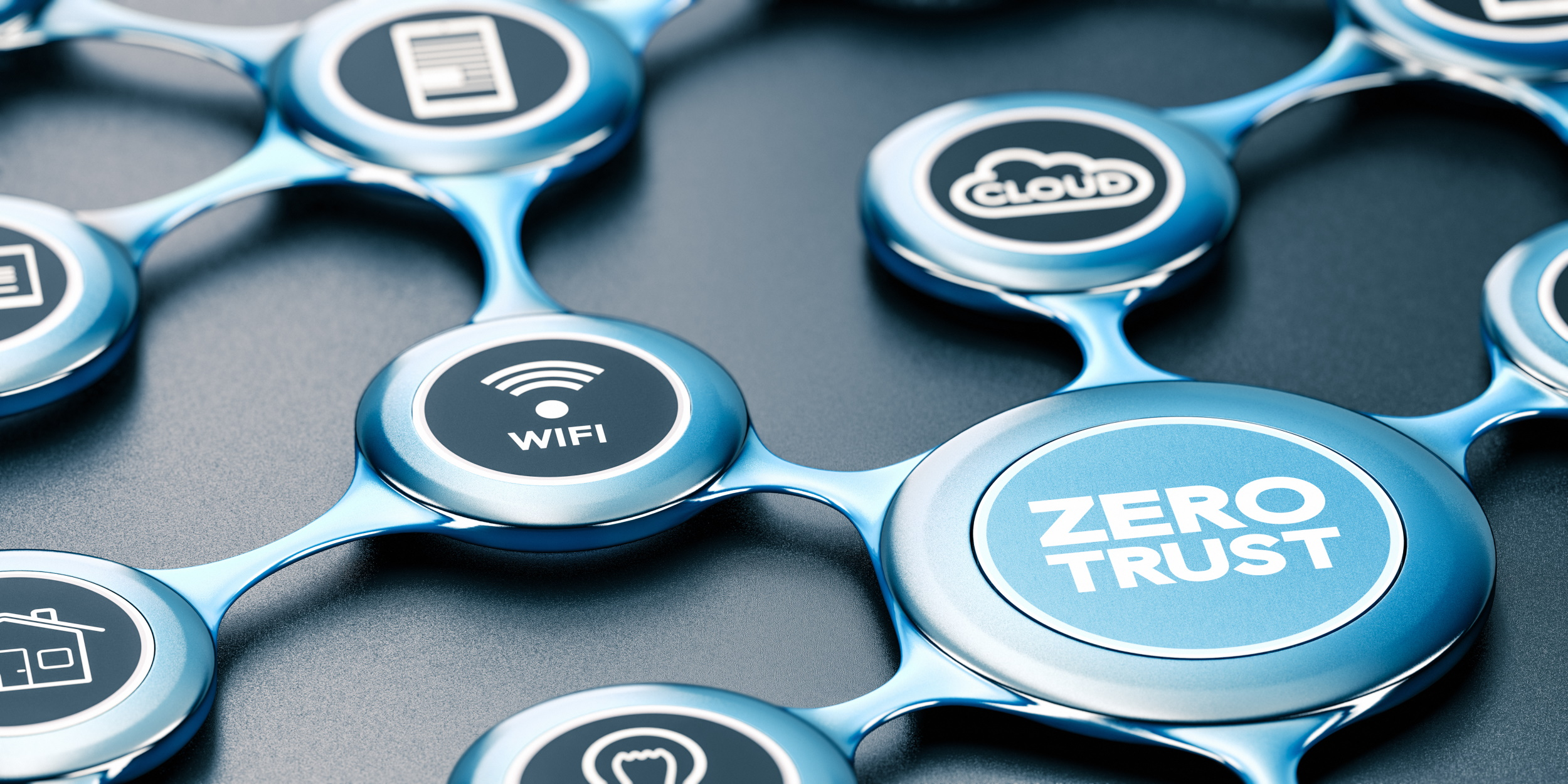 Zero trust and IoT concepts connected in an optical network